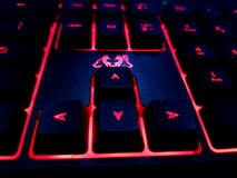 Red LED keyboard Stock Images
