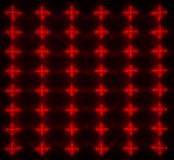 Red LED matrix Stock Images