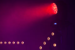 Red LED Spot light, stage illumination Royalty Free Stock Images