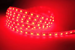 Red LED strip light Stock Photography