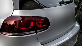 Red Led taillight stock photography