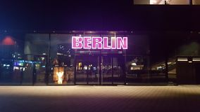 Red LED & x22;Berlin& x22; Stock Images