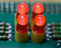 Red leds Stock Images
