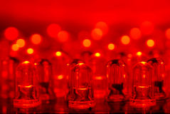 Red LEDs Stock Photo