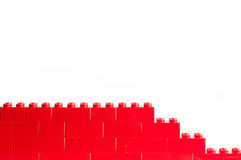 Red Lego blocks with copy space Royalty Free Stock Photos