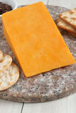 Red Leicester cheese Royalty Free Stock Photos