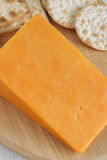 Red Leicester cheese Stock Images