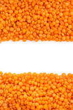 Red lentil as background Stock Photos