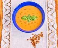 Red Lentil Cream Soup stock images