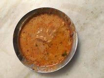 Red lentil Indian dal stock images