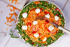Red lentil salad Stock Photo