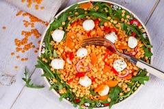 Red lentil salad Stock Photo