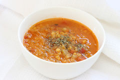 Red lentil soup Royalty Free Stock Photography
