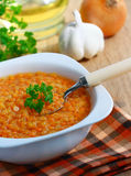 Red Lentil Soup. Royalty Free Stock Photo