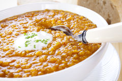 Red Lentil Soup Royalty Free Stock Image