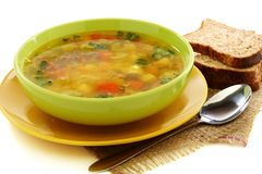 Red lentil soup. Stock Images