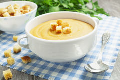 Red lentil soup Royalty Free Stock Photos