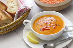 Red lentil soup, turkish cuisine Stock Images
