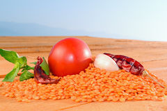 Red lentil  Royalty Free Stock Photos