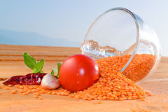 Red lentil A Royalty Free Stock Images