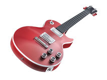 Red Les Paul electric guitar Royalty Free Stock Photography