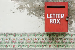 Red letter box Stock Photography