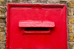 Red letter box Stock Images