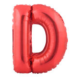 Red letter D made of inflatable balloon Stock Photography