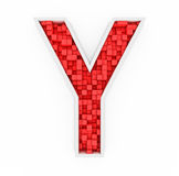 Red letter Y Stock Photo