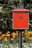 Red letterbox Stock Photos