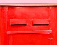 Red letterbox Stock Image