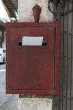 Red letterbox letter Royalty Free Stock Photography