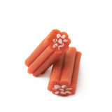 Red licorice stick candy isolated Royalty Free Stock Images