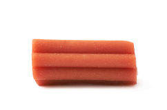 Red licorice stick candy isolated Stock Image