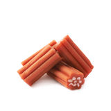 Red licorice stick candy isolated Stock Photos