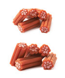 Red licorice stick candy isolated Royalty Free Stock Photos