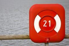 Red Life Belt Box. A red life belt box at a lake royalty free stock image