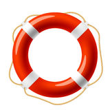 Red life buoy Royalty Free Stock Photos