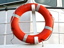 Red life buoy Royalty Free Stock Image