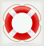 Red Life Buoy. Vector illustration Stock Photography