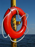 Red life-buoy Stock Photography