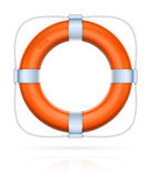Red life buoy with rope Royalty Free Stock Image