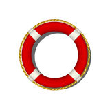 Red life buoy Stock Photo