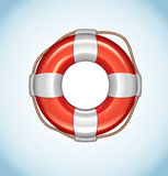 Red Life Buoy Vector Icon Stock Image