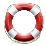Red life buoy on white background. EPS 10 Royalty Free Stock Image