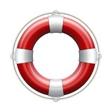 Red life buoy. Red life buoy on white background. Vector Illustration Stock Photography