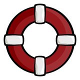 Red life ring Royalty Free Stock Photos