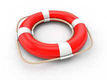 Red lifebelt 3d Royalty Free Stock Images