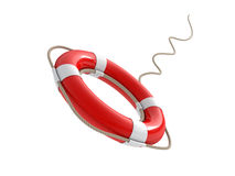 Red lifebelt 3d Royalty Free Stock Image