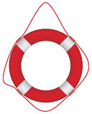 Red lifebuoy Stock Image